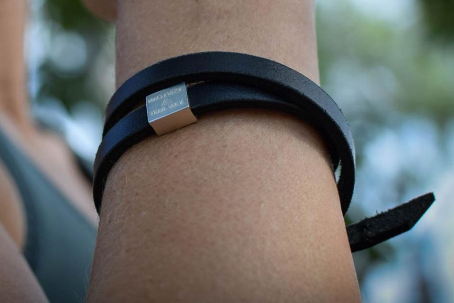 A black stylish leather strap for double strap. Can be made as a single loop strap as well. For every big trail you have finished you can order a new charm. Have you done all four already, well then just order the whole bracelet with all the charms. Every charm is made in silver and plated with white gold. The trail name and length are engraved in both English and Chinese. charm leather strap bracelet hong kong hiking